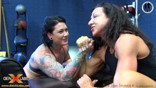 Amy Payne Powerlifter Arm Wrestling Kim Haynes Physique Competitor at the Olympic Fitness Club