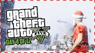GTA 5 Funny Moments - Grinch Military Base Heist Attack!!! (Day 4 of 12) (GTA 5 Christmas Special)