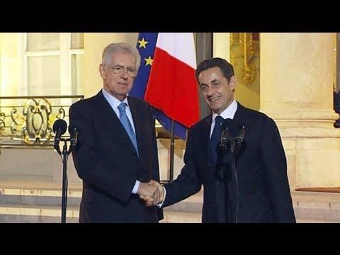 Crise do Euro: Sarkozy e Merkel vão a Roma a 20 de Janeiro