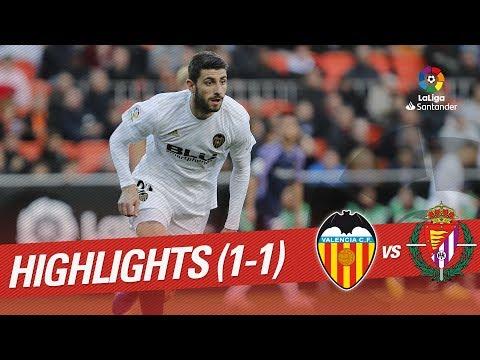 Highlights Valencia CF vs Real Valladolid (1-1)