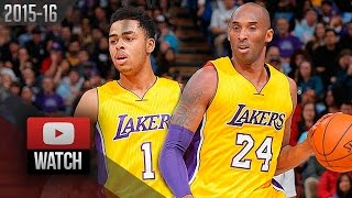 Kobe Bryant & D'Angelo Russell Full Highlights at Kings (2016.01.07) - 55 Pts, Lakers Feed