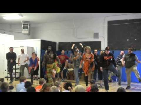 African Dance & Drum Troupe at Stanbridge Academy - October 2014