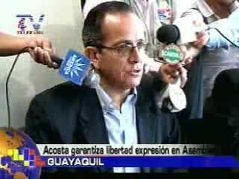 Acosta garantiza libertad de expresión en Asamblea