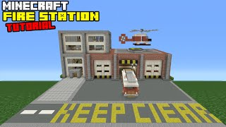 Minecraft Tutorial: How To Make A Fire Station (Quick And Easy)