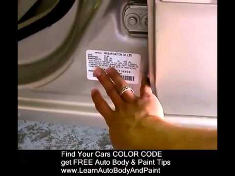 Mazda  Paint Code Location