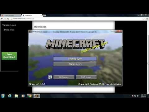How To Get Minecraft 1.6.2 For Free (PC)