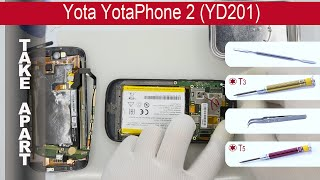 How to disassemble 📱 Yota YotaPhone 2 YD201 Take apart, Tutorial