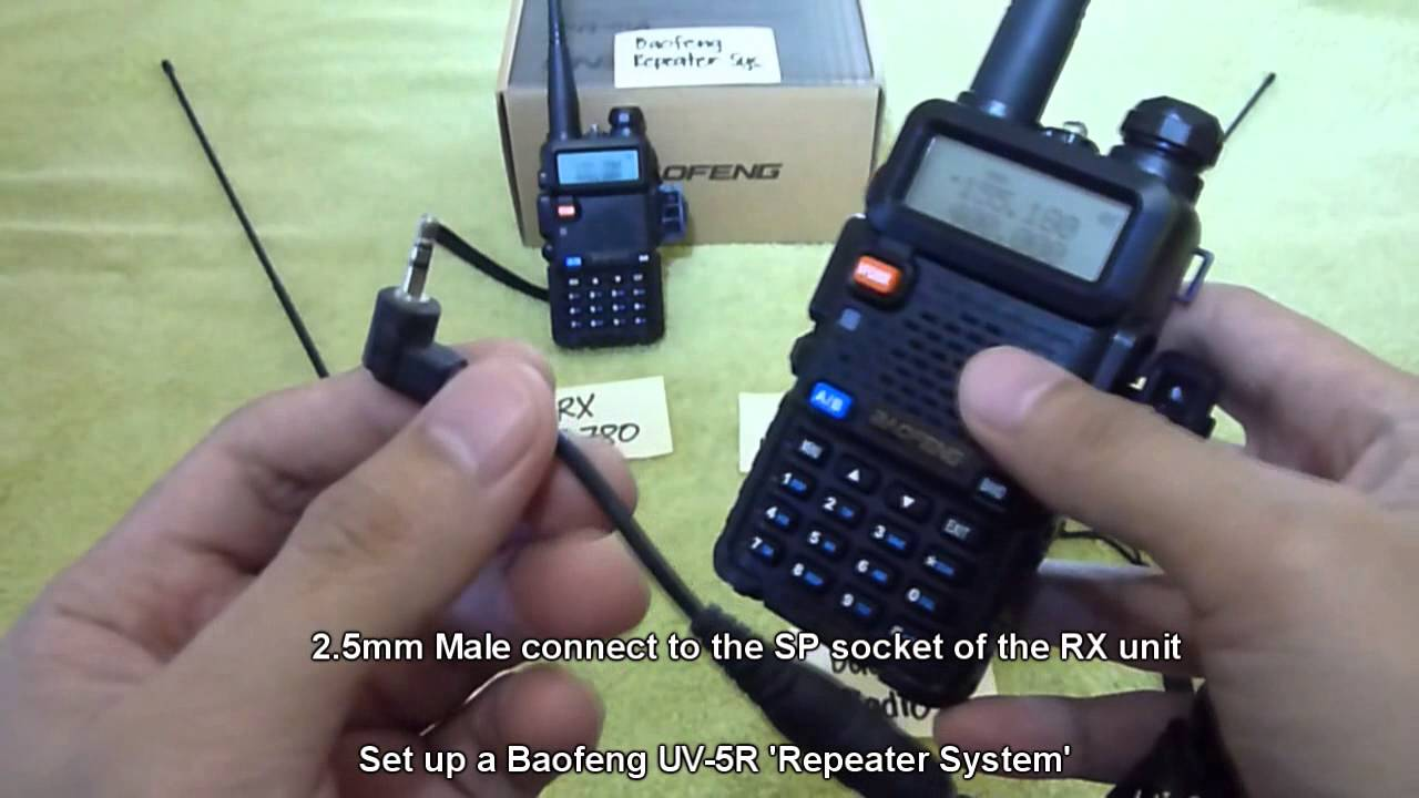 Set Up A Baofeng Uv 5r Repeater System Youtube