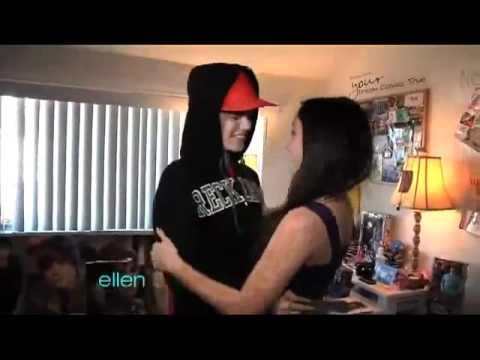 Justin Bieber Meets Huge Fan on Ellen (FULL HD).mp4