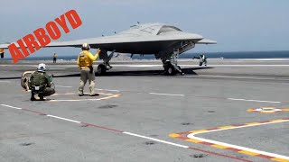 X-47B Launch And Recover USS George H.W. Bush (CVN-77)