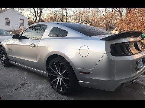 Mustang GT500 Spoiler Install. looks so good
