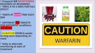 ANTICOAGULANTs : Indications,, doses, side effects, interactions
