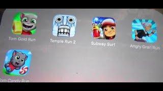 Snow Maps in Tom Run,Temple Run 2,Angry Gran Run,Subway Surfers,Tom Candy run