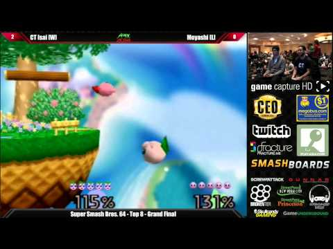 Super Smash Bros 64 Grand Final CT Isai vs Moyashi - Apex 2014 Tourmament