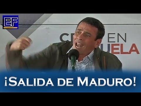 IMPORTANTE: Henrique Capriles propone 'ENMIENDA Y REVOCATORIO' para sacar a Nicolás Maduro | 2016