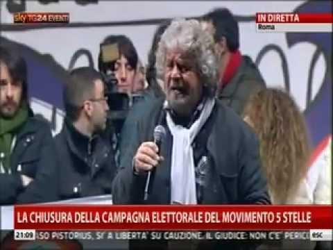 Beppe Grillo / Roma – Piazza San Giovanni – 22.2.2013