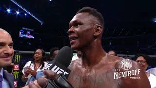 UFC 243: Israel Adesanya and Robert Whittaker Octagon Interview