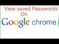 How to view saved passwords in Google Chrome (2017 updated)