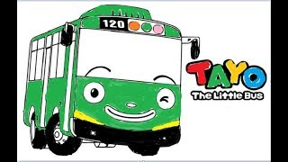 All Clip Of Learn Coloring Toto The Little Bus Tayo Bhclip Com