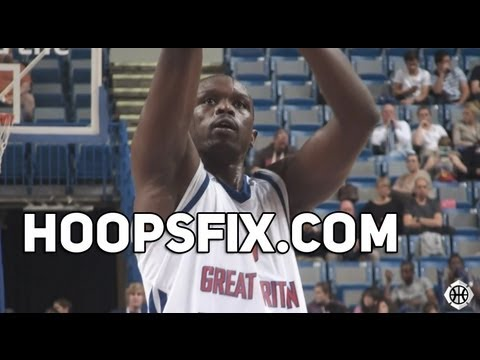 Luol Deng GB Basketball Olympics Team vs Portugal (Sheffield Tourney)