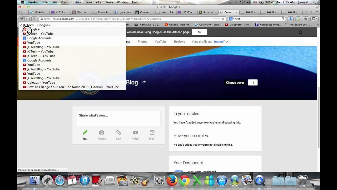 how to find a youtube channel by username