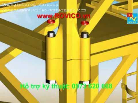 Quy trình lắp đặt vận thăng, Quy trình lắp đặt cẩu tháp