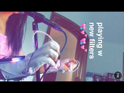 Ariana Grande testing new music with MiMu Gloves (MOONLIGHT) | August 12th 2015 | SNAPCHAT STORY