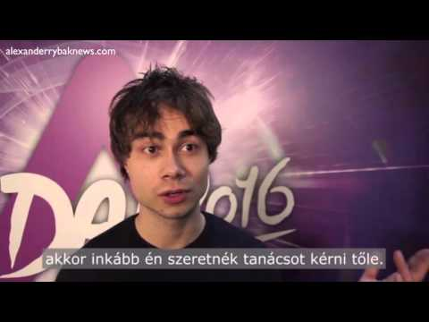Alexander Rybak's interview  at the Hungarian national final to ESC 2016
