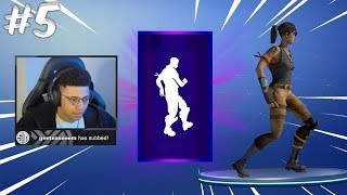 MYTH REACTS TO *NEW* MOON WALK DANCE Fortnite Funny Moments Ep.5 (Fortnite Battle Royale Daily)