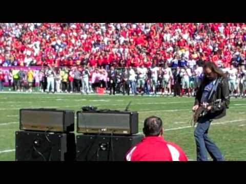 Ace performs the National Anthem for the Kansas City Chiefs.