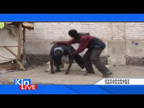 Insolite: Deux fous apprennent le Karaté en pleine air à Kinshasa