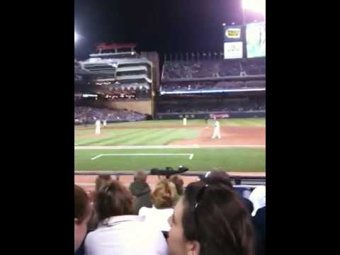 Sitting 5th row at Target Field