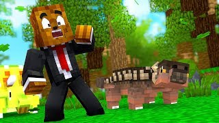 Our First T-Rex Dino Fossil  - Minecraft Jurassicraft Dinos Modpack Episode #5 | JeromeASF