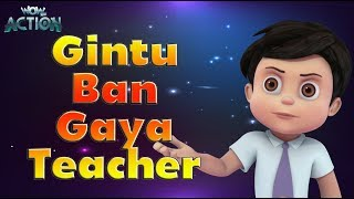 Cartoons in Hindi | Vir : The Robot Boy | Gintu Ban Gaya Teacher | 3D Action shows for kids