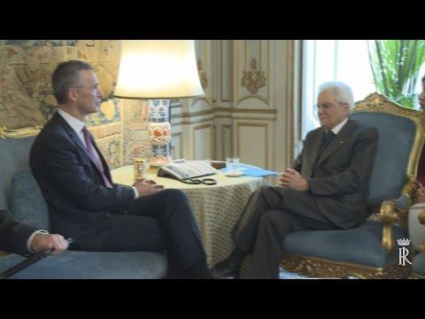 Il Presidente Mattarella con il Segretario Generale della N.A.T.O. Jens Stoltenberg