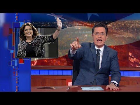 Palin's Trump Endorsement: Colbert Cheers Return of Original 'Material' Girl