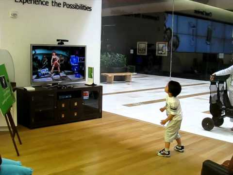 Kid playing Dance Central Disturbia on Hard