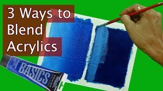 3 Ways to Blend Acrylic Paints Tutorial for beginners by JM Lisondra