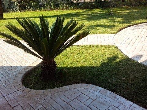 Pavimento esterno cemento stampato