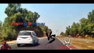 Maruti Suzuki Ertiga VS Honda Amaze l Drag race l Mumbai Goa Highway
