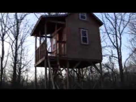 Treeless treehouse youtube for Treeless treehouse