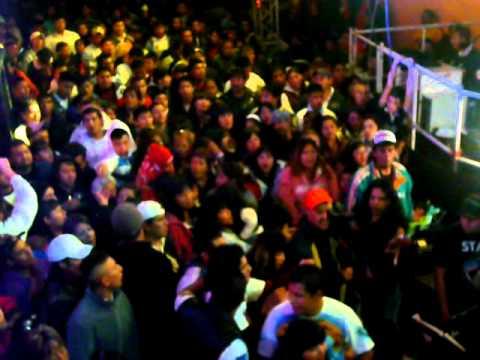 Sam Sam en vivo con discomovil America Barrio Chuchos col La Pastora GAM  1 Enero 2012