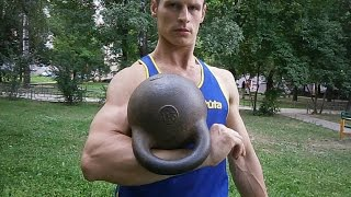 Гиря 32 кг.143 подъема за 3 мин.Jerk gira (KB) 32 kg. 143 reps in 3 min.