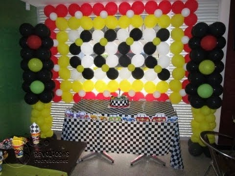 Decoracion hot whells con globos fiestas infantiles youtube - Decoracion de cars para fiestas infantiles ...