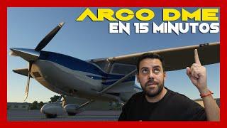 Escuela de vuelo Virtual   Episodio 6   Como hacer Arco DME  X-PLANE ESPAÑOL