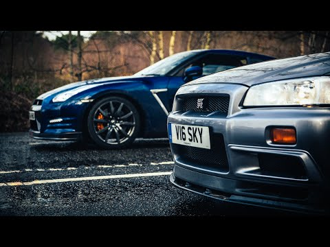 R34 Nissan Skyline Gt-r Vs R35 Gt-r: The Ultimate Godzilla Review video