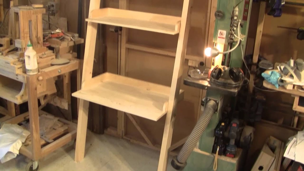 L 39 gosseux d 39 bois ep 29 tablettes en chelle youtube - Echelle etagere bois ...