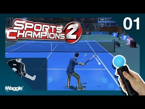 Sports Champions 2 PS Move Walkthrough - Part 1/6 [Tennis - Gold Difficulty]