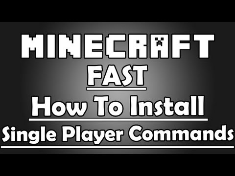 Minecraft Tutorial 1.5.2 How to install Single Player Commands in under 4 minutes! 1.5.2