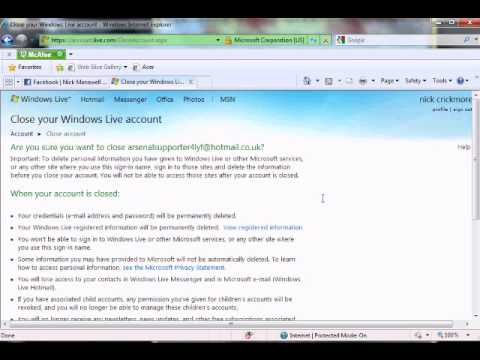 how to delete your hotmail account 2015